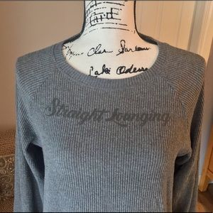 Energie comfy sweatshirt top in grey